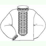 Бязевая белая мужская вышиванка ВМБ-019