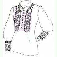 Бязевая белая женская вышиванка ВЖБ-028