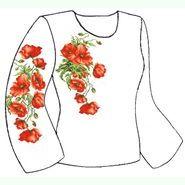 Бязевая белая женская вышиванка ВЖБ-029