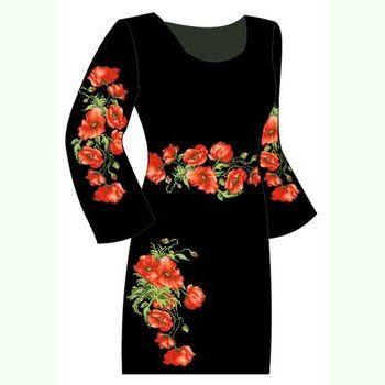 Чёрное женское платье ПлКт-009Ч