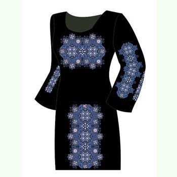 Льняное чёрное платье ПлЛ-006Ч