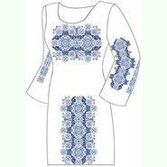 Домотканое белое платье ПлД-006Б