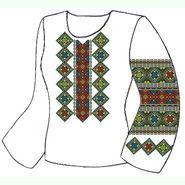 Лляна біла жіноча вишиванка ВЖЛ-030Б