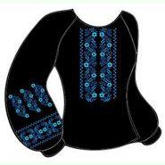Чёрная женская вышиванка ВЖКт-020Ч