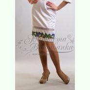 Атласна біла жіноча спідниця СЖ-007Б