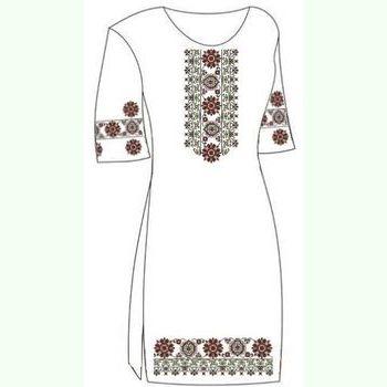 Льняное белое платье ПлЛ-004Б-кр