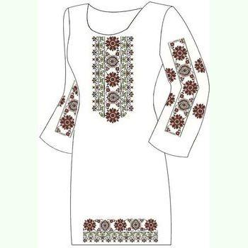 Льняное белое платье ПлЛ-004Б-др