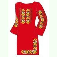 Красное женское платье ПлКт-003А-др