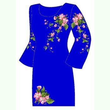 Синее женское платье ПлКт-007В-др