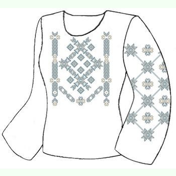 Лляна біла жіноча вишиванка ВЖЛг-033Б