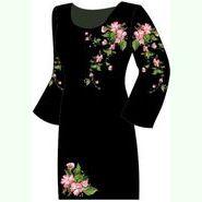 Чёрное женское платье ПлКт-007Ч