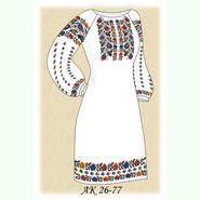 Заготовка к женскому платью АК 26-77