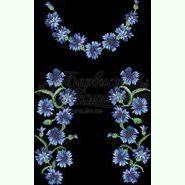 Атласна чорна жіноча вишиванка БЖ-051Ч