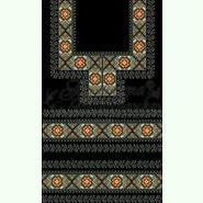 Атласна чорна жіноча вишиванка БЖ-064Ч