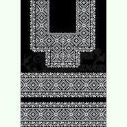 Атласна чорна жіноча вишиванка БЖ-066Ч