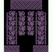 Атласна чорна жіноча вишиванка БЖ-081Ч