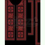 Домоткана чорна чоловіча вишиванка СЧд-026Ч