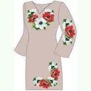 Льняное серое платье ПлЛ-011С