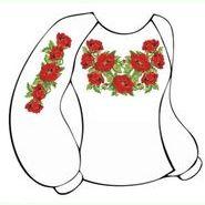 Белая женская вышиванка ВЖПс-001Б