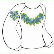 Белая женская вышиванка ВЖПс-003Б