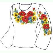 Белая женская вышиванка ВЖПс-018Б