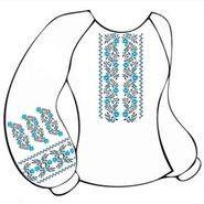 Белая женская вышиванка ВЖПс-020Б