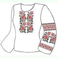 Белая женская вышиванка ВЖПс-022Б
