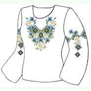 Белая женская вышиванка ВЖПс-026Б