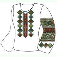 Белая женская вышиванка ВЖПс-030Б