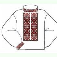 Белая мужская вышиванка ВМПс-002Б