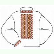 Белая мужская вышиванка ВМПс-003Б