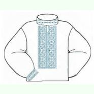 Белая мужская вышиванка ВМПс-005Б