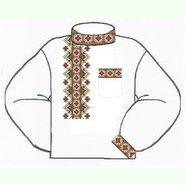 Белая мужская вышиванка ВМПс-007Б