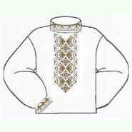Белая мужская вышиванка ВМПс-008Б