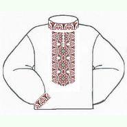 Белая мужская вышиванка ВМПс-010Б