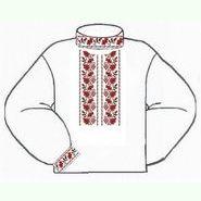 Белая мужская вышиванка ВМПс-012Б