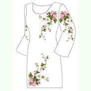 Льняное белое платье ПлЛ-007-1Б