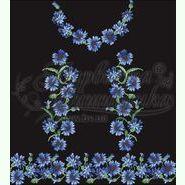Домотканое чёрное женское платье ПЛд-051Ч