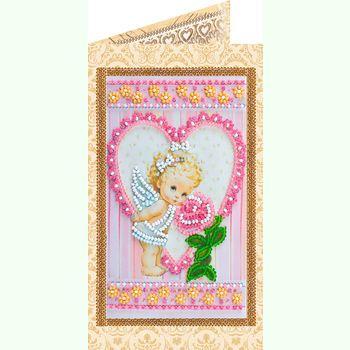 Ангелочек и роза AO-134