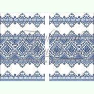 Атласная заготовка для вышивания свадебного рушника ТР065ан5099