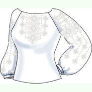 Лляна біла жіноча вишиванка СВЖБ-38