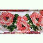 Женская белая вышиванка на габардине