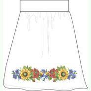 Лляна біла заготовка жіночої спідниці СПЖБ-28