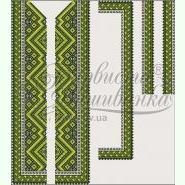 Льняная бежевая мужская вышиванка СЧл-016М