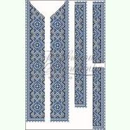 СЧл-045Б. Льняная белая мужская вышиванка