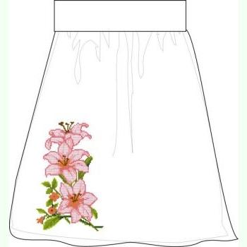 СПЖП-11. Домотканая белая женская юбка