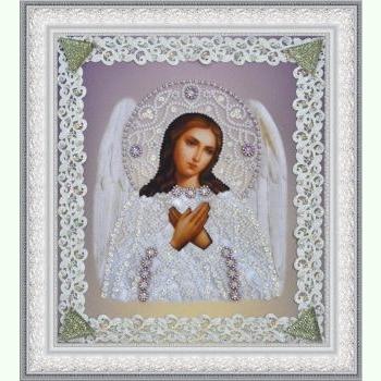 Ікона Ангела Хоронителя (срібло) ажур P-371