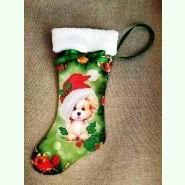 ЧХ-1. Пошитий новорічний чобіток з хутром, під вишивку.