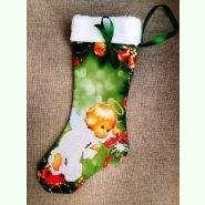 ЧХ-4. Пошитий новорічний чобіток з хутром, під вишивку.