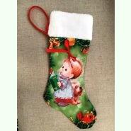 ЧХ-2. Пошитий новорічний чобіток з хутром, під вишивку.